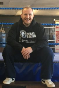 John 'Fireball' Fewkes at Titans Boxing Gym, Sheffield